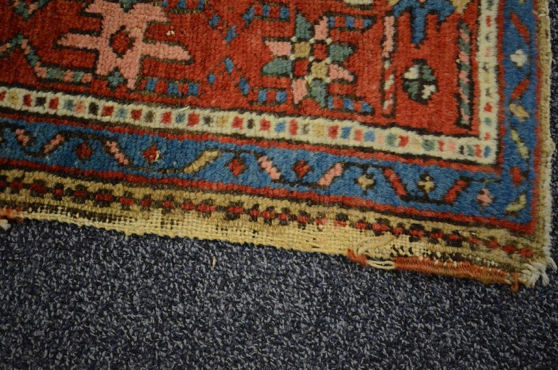 "Antique Heriz Rug, 3'6"" x 4'5"" - 4"