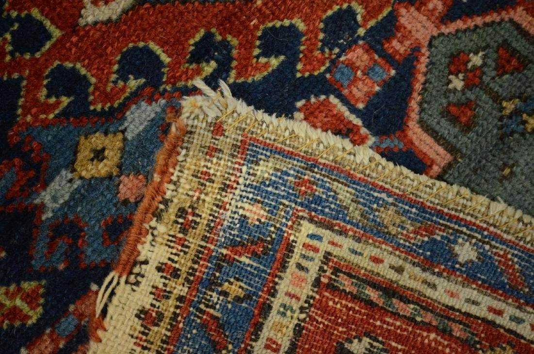 "Antique Heriz Rug, 3'6"" x 4'5"" - 5"