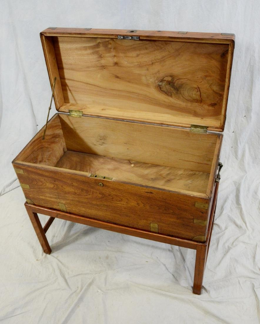 Brass bound camphorwood chest on stand, 1840 or before - 2