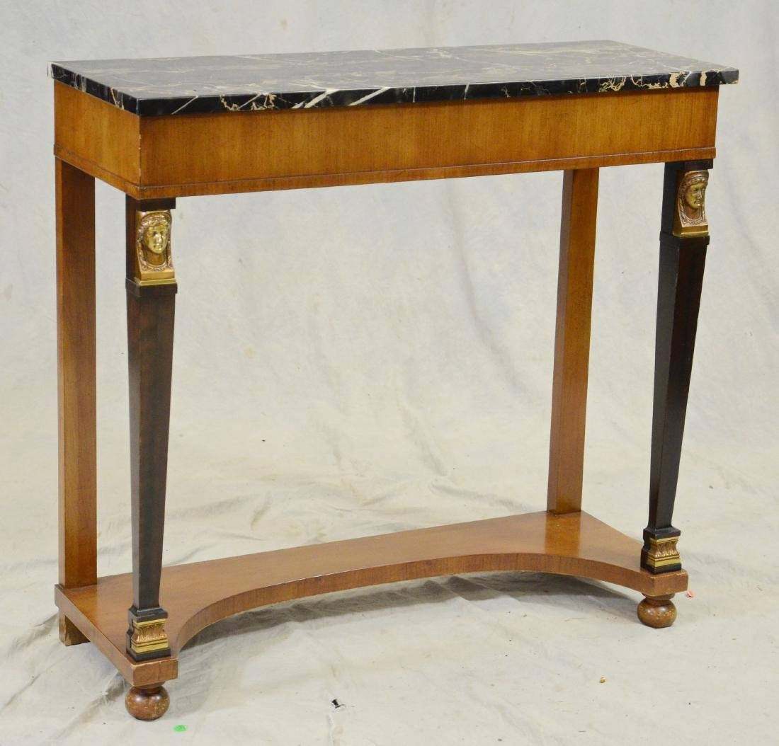 French Empire Style Marble Top Console Table