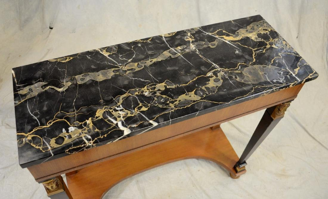 French Empire Style Marble Top Console Table - 3