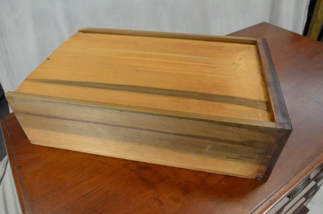 American cherry chest on frame top on bracket base - 2