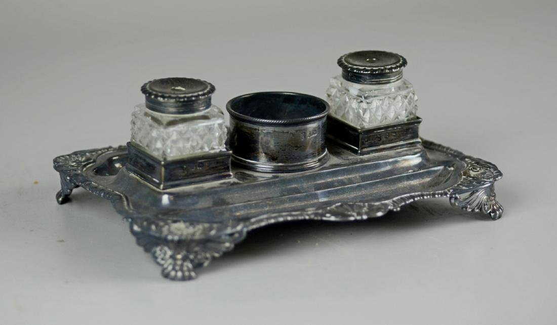 George III silver double inkstand, Craddock & Reid