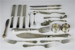 (8) Pcs Sterling Silver & (11) Pcs Silver Plate