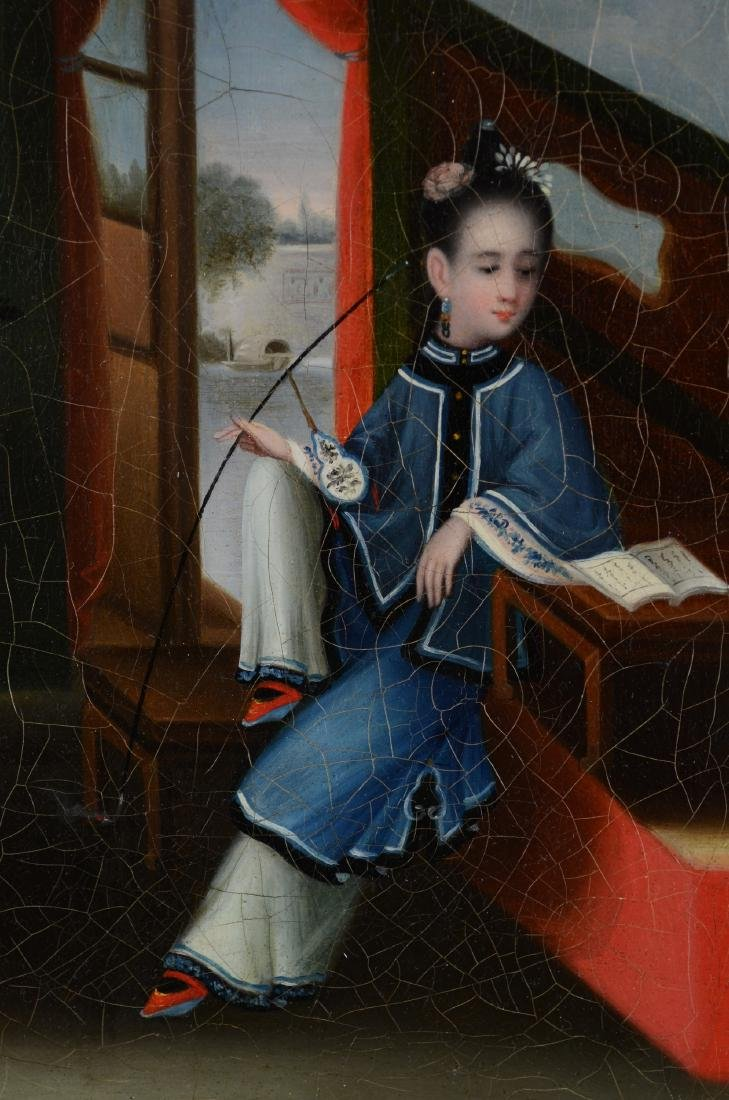 Attributed Youqua, Painting of a Chinese Girl - 3
