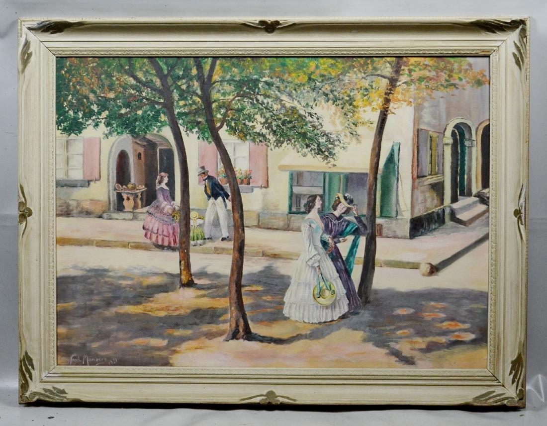 Paul Meinberg painting of street scene