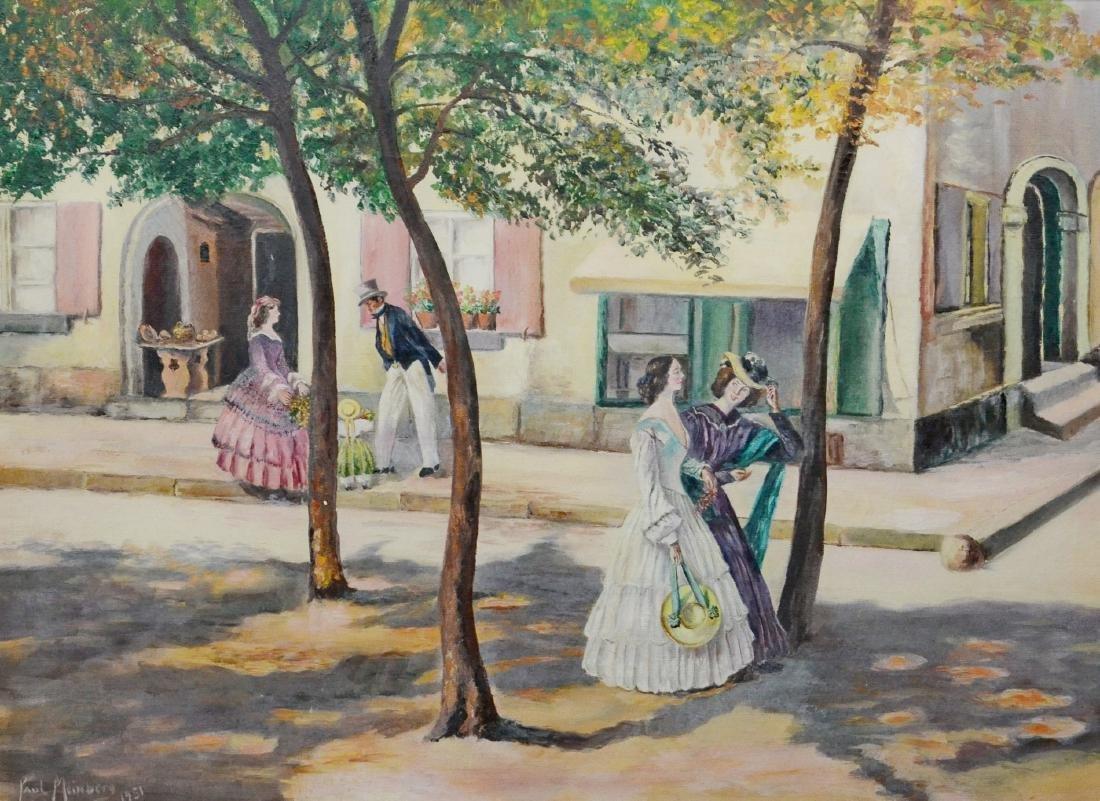 Paul Meinberg painting of street scene - 2