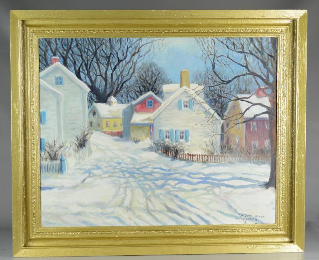 20th C American Impressionist painting