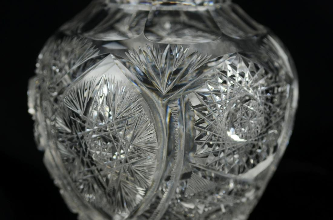 American Brilliant Cut Glass Vase - 2