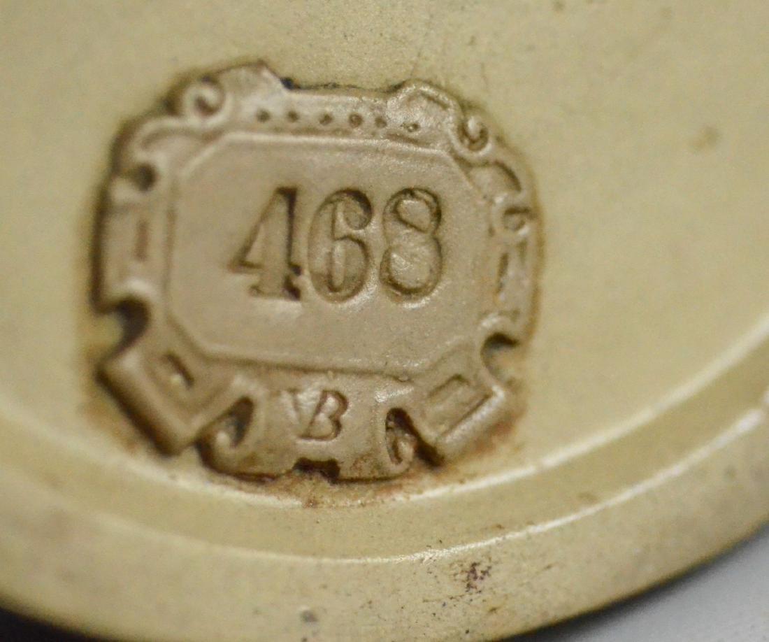 (3) 0.5 L Mettlach Relief Barrel Steins, 468, 675 - 3