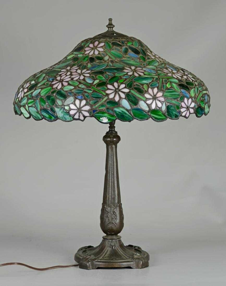 Leaded stained glass table lamp 24 h greentooth Gallery