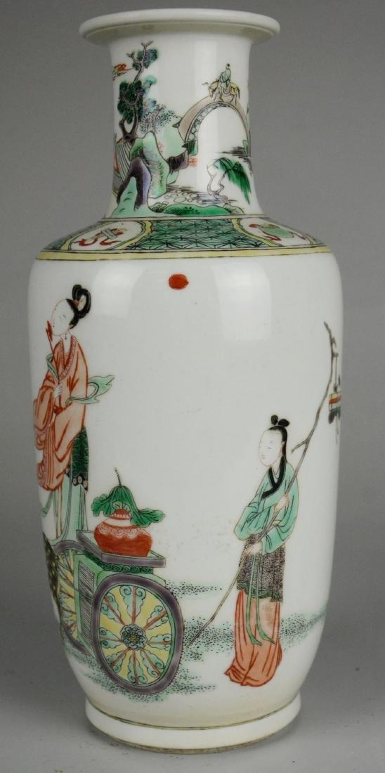 Chinese Famille Verte Vase - 2