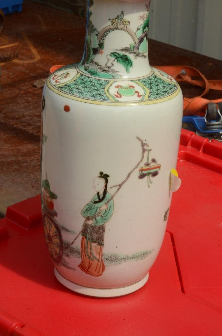 Chinese Famille Verte Vase - 4