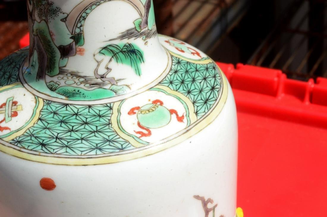 Chinese Famille Verte Vase - 8