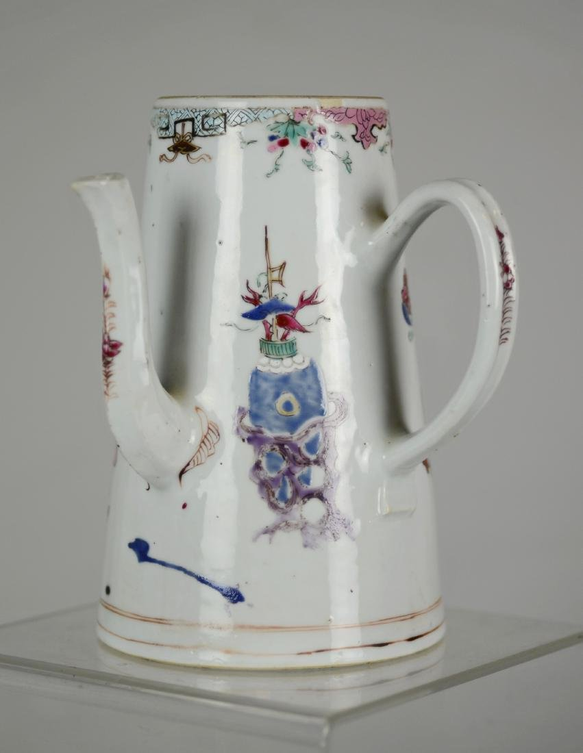 Chinese Export Porcelain Chocolate Pot - 2