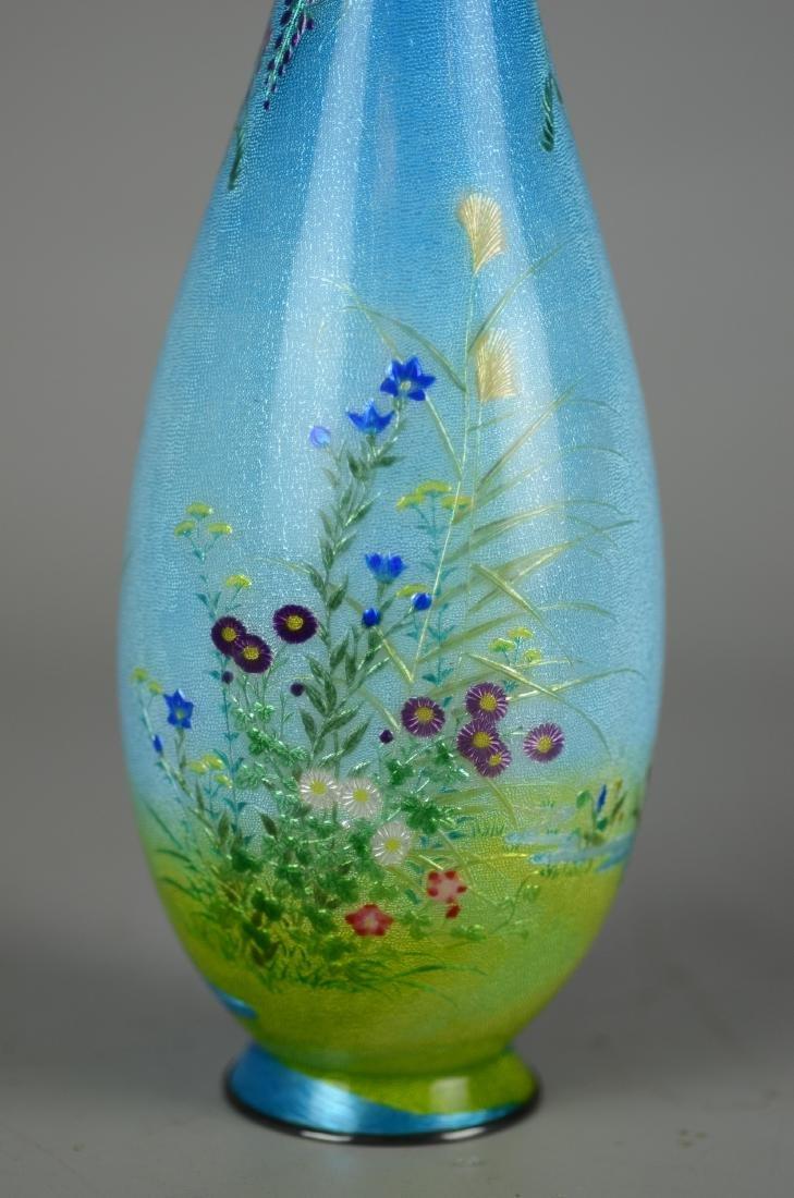 Ginbari Japanese enameled vase - 2