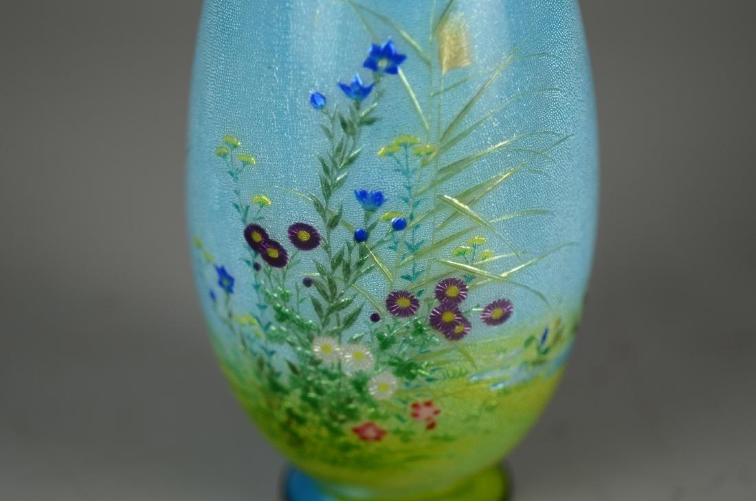 Ginbari Japanese enameled vase - 3