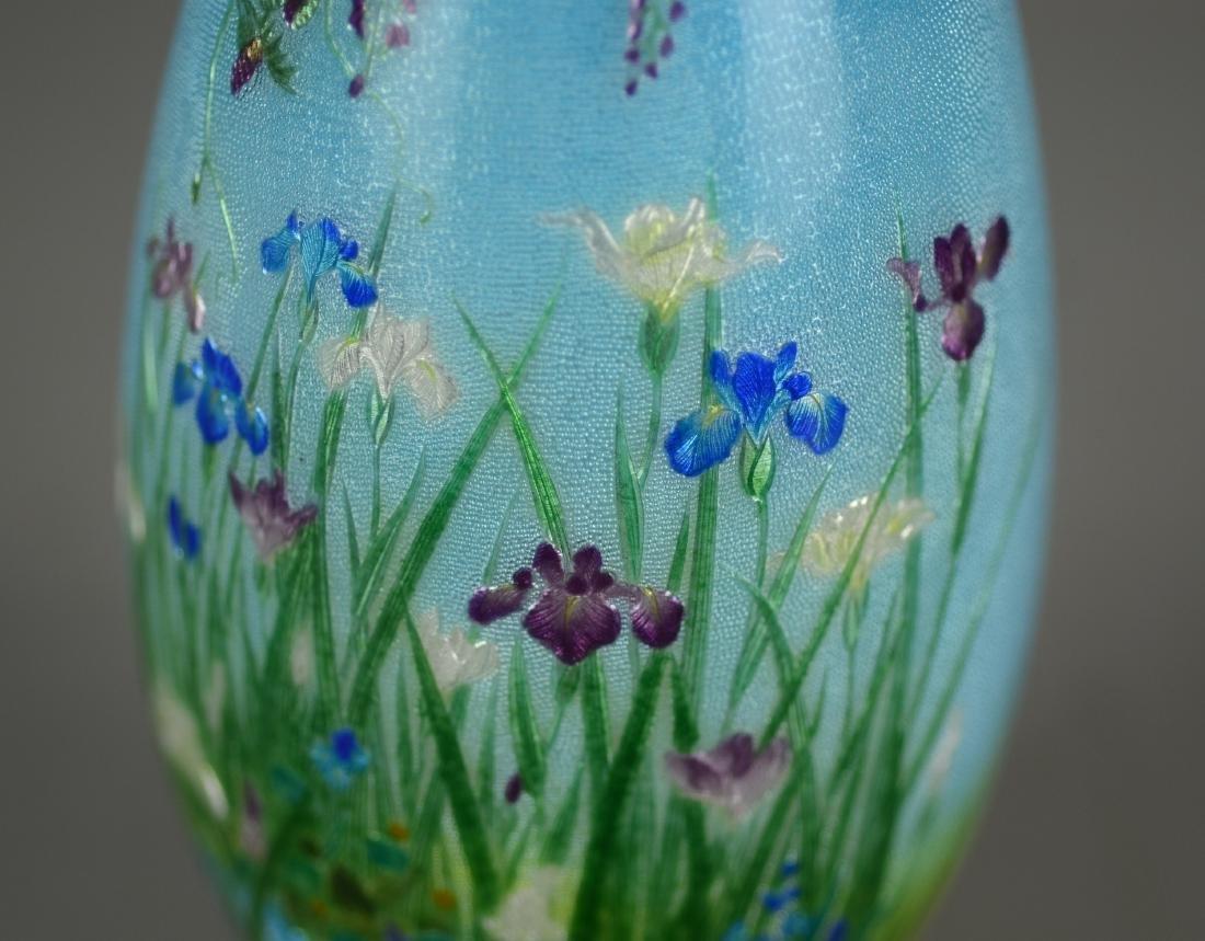 Ginbari Japanese enameled vase - 5