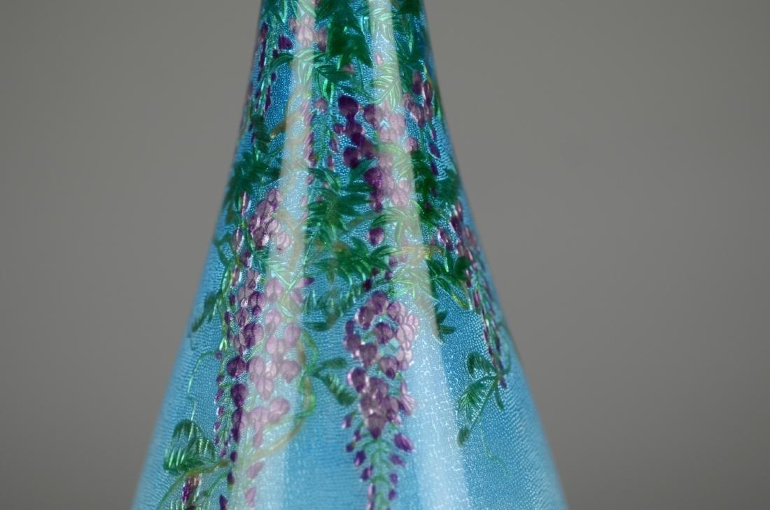 Ginbari Japanese enameled vase - 6
