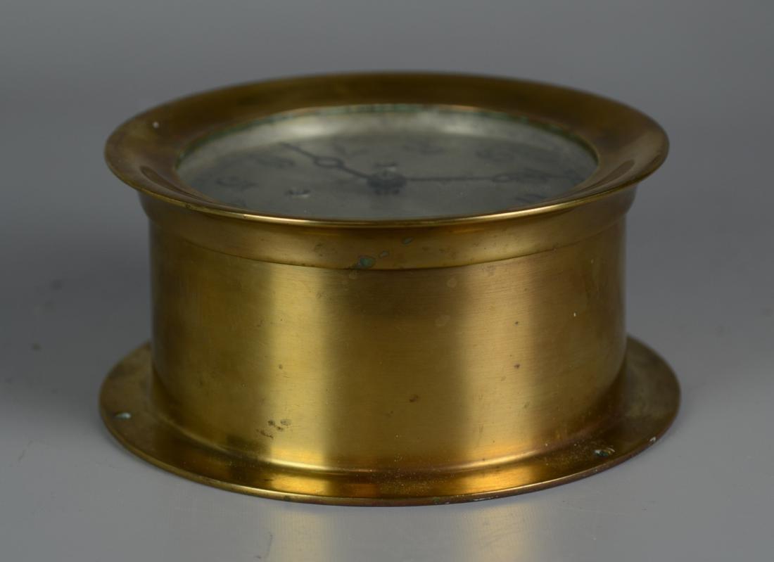 """Chelsea brass 5"""" ships clock, ships bell strik - 4"""