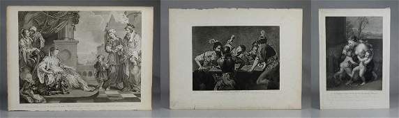 3 18th19th C English engravings on paper