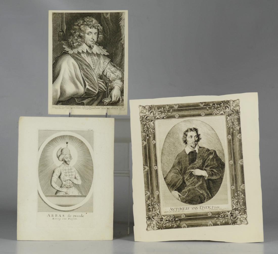 (3) Antiquarian portrait engravings