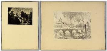 Joseph Pennell (American, 1860-1926), Pr lithographs on