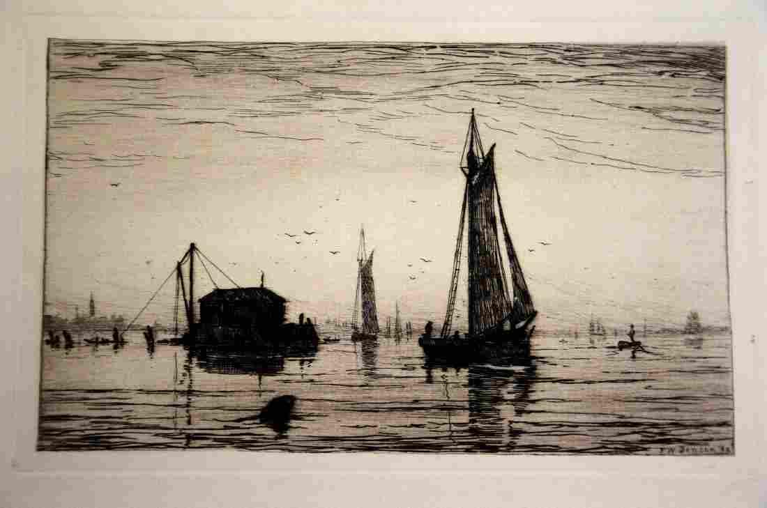 Frank Weston Benson (American, 1862-1951), drypoint