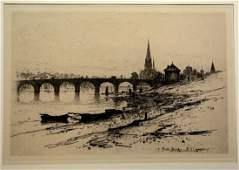 David Young Cameron (English, 1865-1945), etching