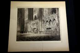 Axel Haig Swedish 18351921 etching on paper