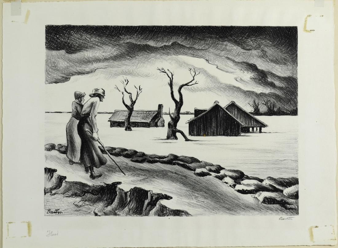 Thomas Hart Benton (American, 1889-1975), lithograph on - 2