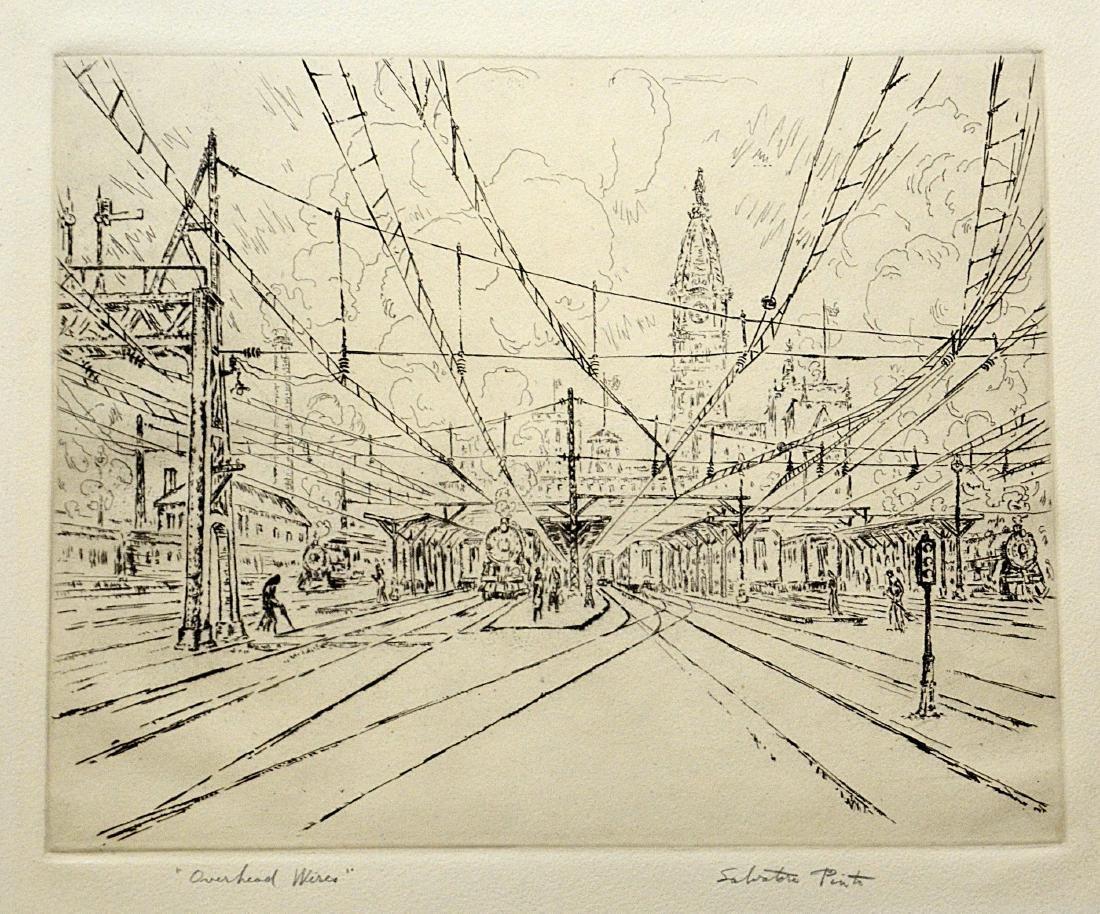 Salvatore Pinto (Italian-American, 1905-1966), etching