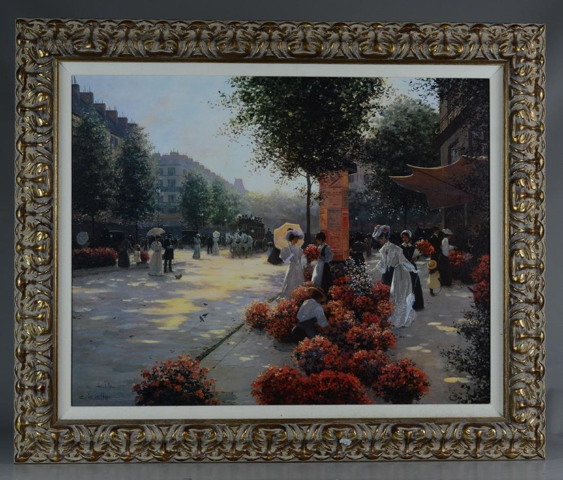After Christa Kieffer Print Of Paris Scene