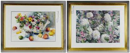 2 Still Life Watercolor Paintings