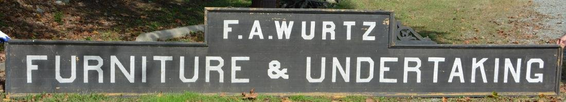 GIANT 17 Foot Long Wooden Victorian Undertaker Sign F.