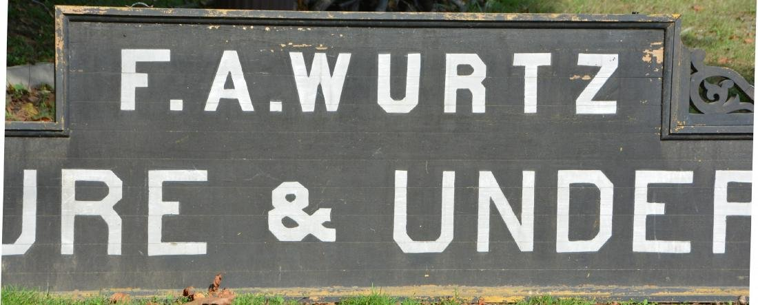GIANT 17 Foot Long Wooden Victorian Undertaker Sign F. - 2