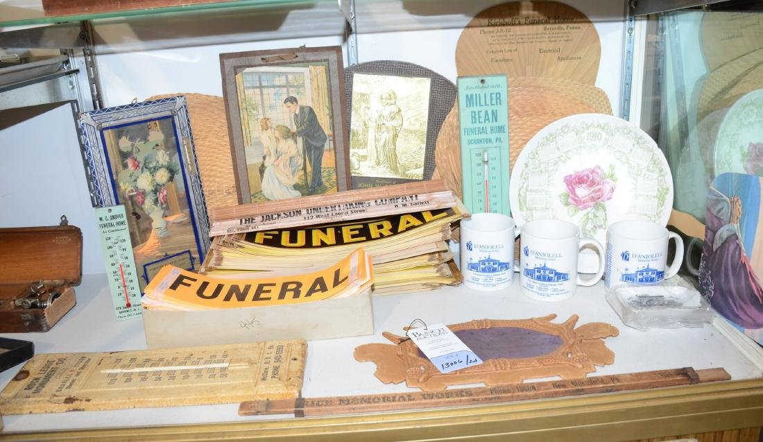 Large Funeral Undertaker Mortuary Advertising Lot