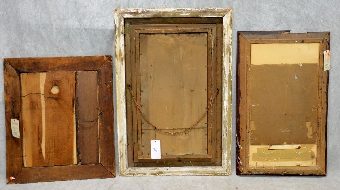 (3) Framed Victorian Litho Mourning Remembrances, - 5