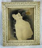 Victorian Post Mortem Dead Baby Framed Photo  c1890