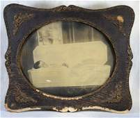 Victorian Post Mortem Photo  Child in Casket  c1880