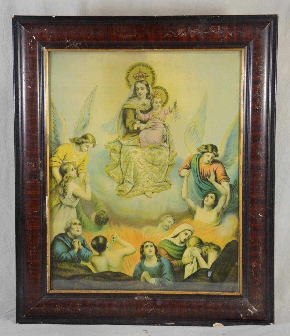Purgatory Mary & Infant Jesus Raise Sinners from Hell