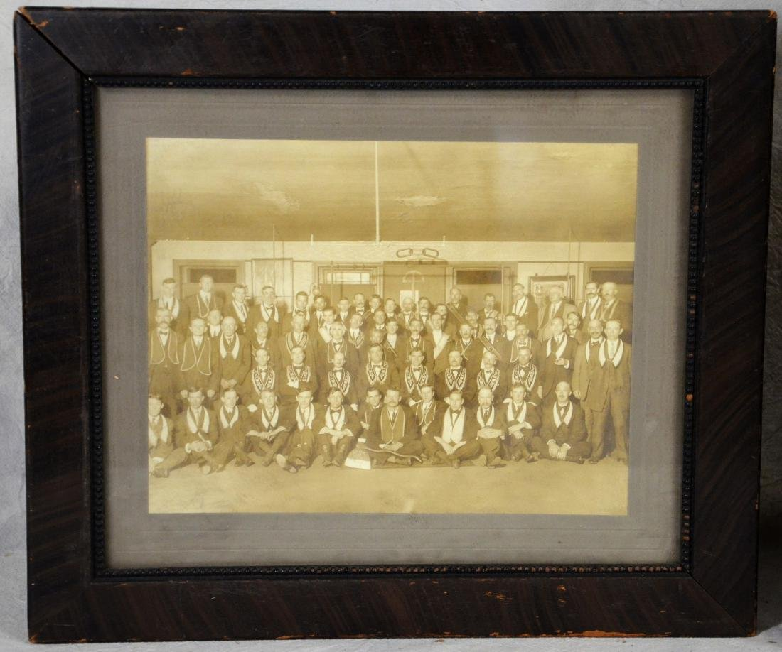 RARE IOOF Oddfellows Framed Photo  c1890  Fraternal - 2