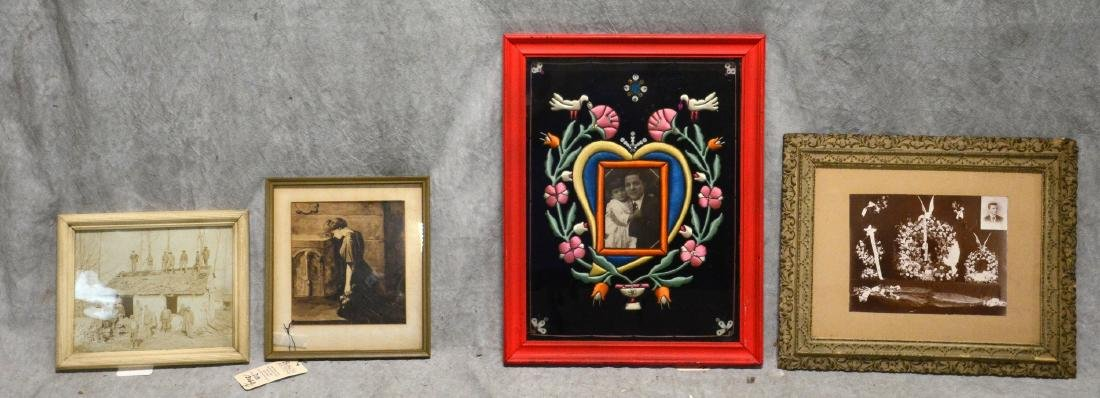 1930's South American Framed Remembrance  Bold color