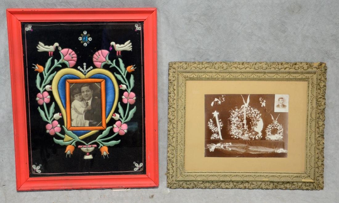 1930's South American Framed Remembrance  Bold color - 3