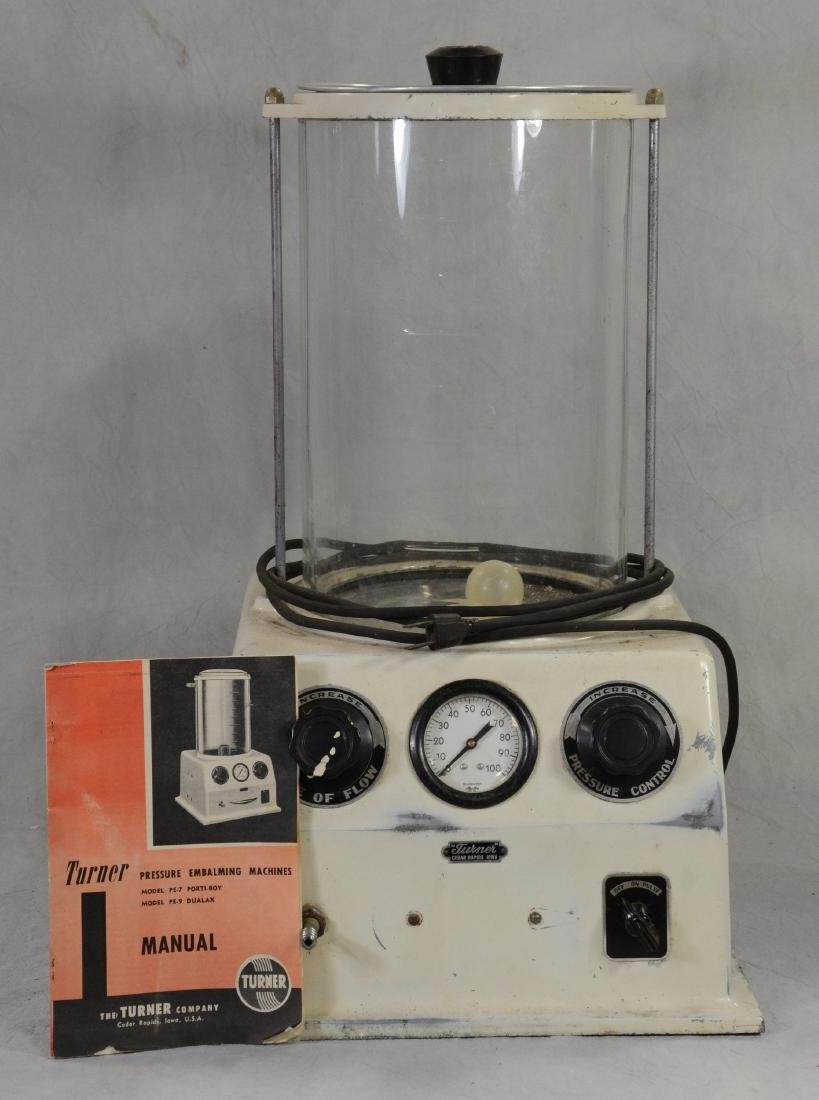 Vintage Turner Embalming Machine  Clean  Very heavy