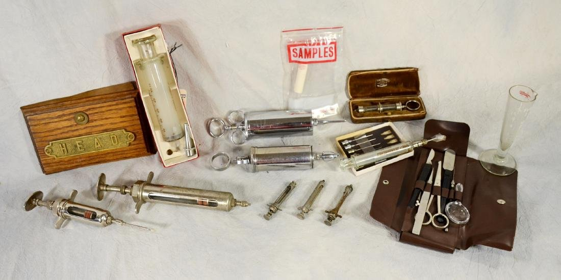 Victorian Cased Glass Hypodermic Syringe, Baldinelli