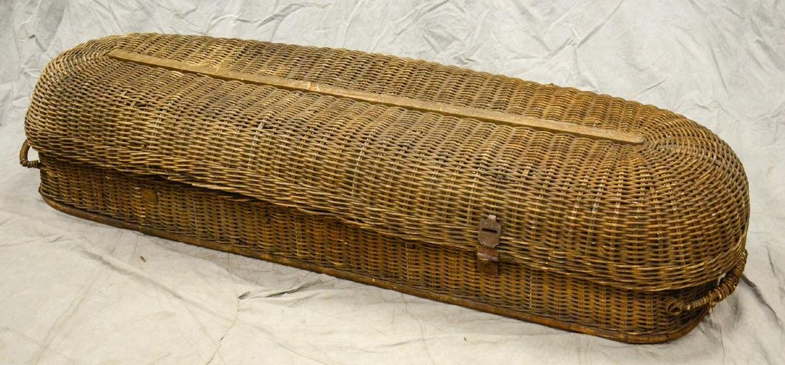 Basket Casket Funeral Carry Out c1900  Early body