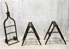 Victorian Turned Wood Casket Coffin Stand Set  c1890;
