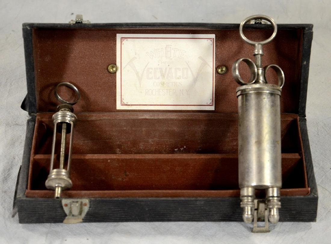 Antique Cased Mortuary Embalming Co-Injector  c1920