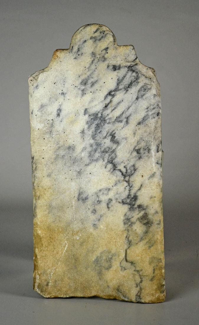 Victorian Hand Carved Marble Tombstone